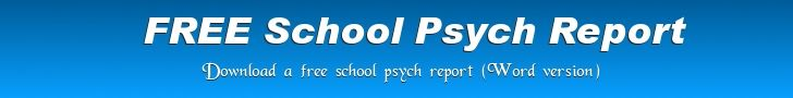Free school psychology report template download