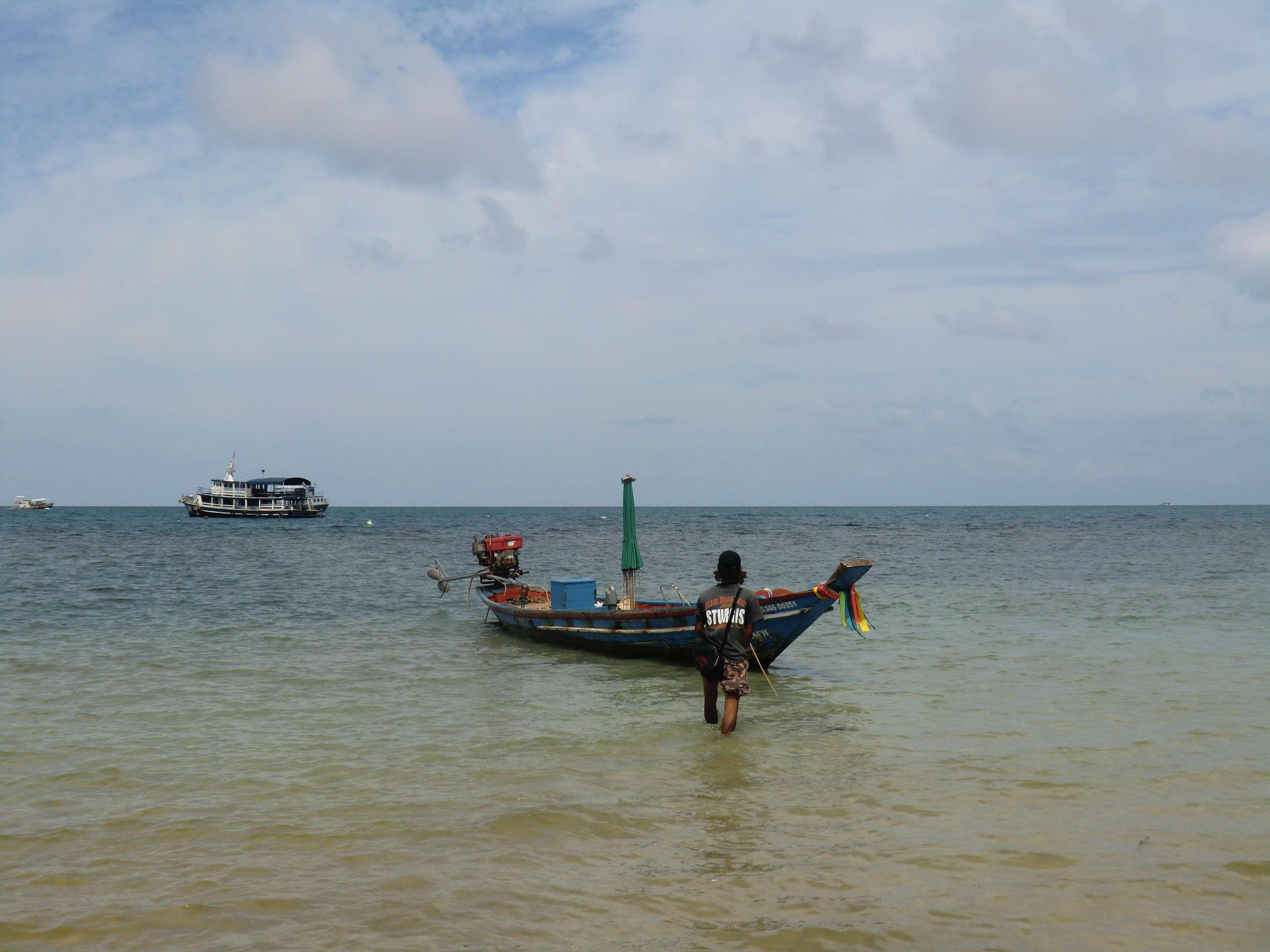 Unser Boot und der Bootsführer