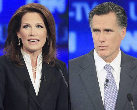 450x362algbachmannromne President 2012 Iowa GOP Poll Watch: Romney 23% Vs Bachmann 22% Vs. Cain 10%