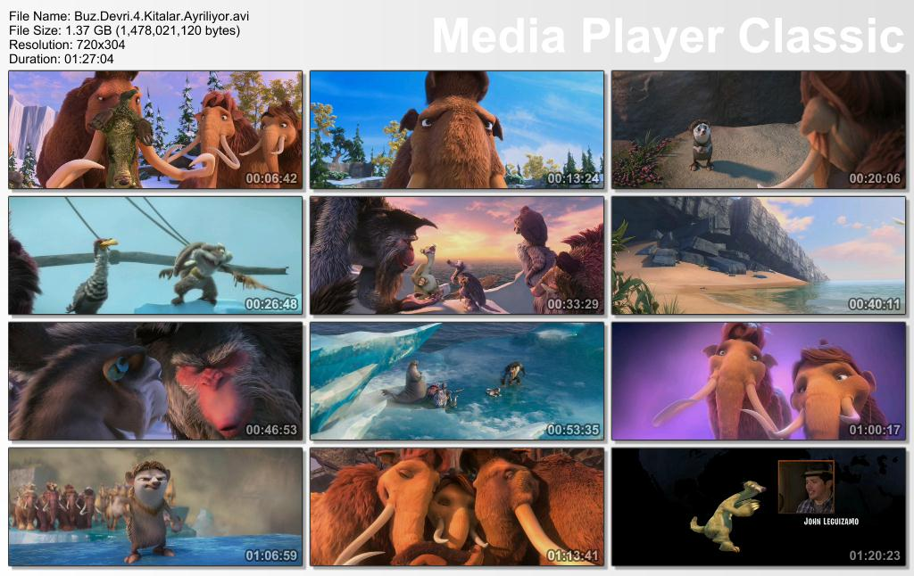 Buz Devri 4 K�talar Ayr�l�yor - 2012 DVDRip XviD - T�rk�e Dublaj Tek Link indir