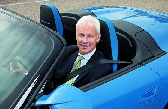 Matthias Müller, Chief Executive Officer da Dr. Ing. h.c. F. Porsche AG, Stuttgart