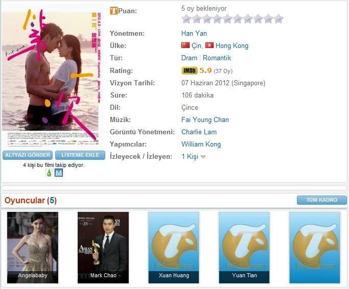 First Time - 2012 DVDRip XviD - Türkçe Altyazılı Tek Link indir